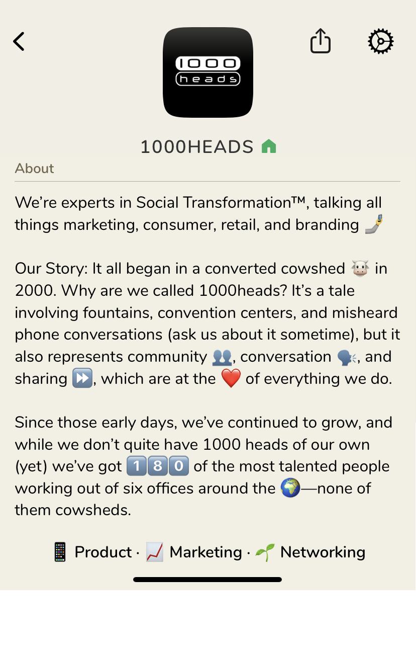 1000heads Clubhouse Club.